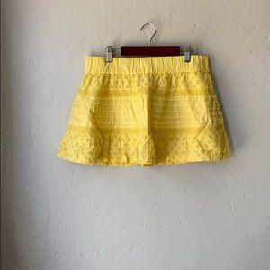 NWT Roxy Ginger Eyelet Mini Skirt in Banana 🌸🌼🌺